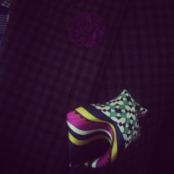 Hubby ootd purple detail