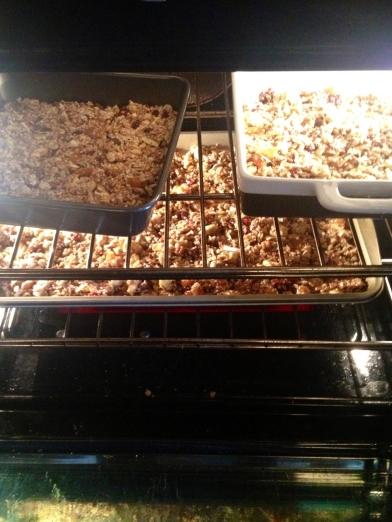 Granola baking