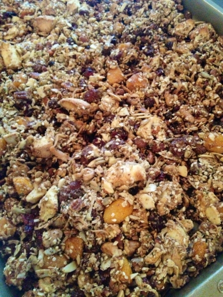 Granola close up